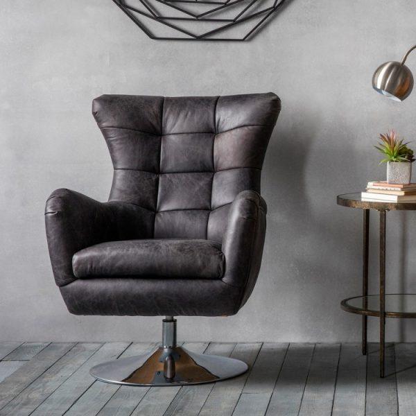Bristol Swivel Chair Antique Ebony