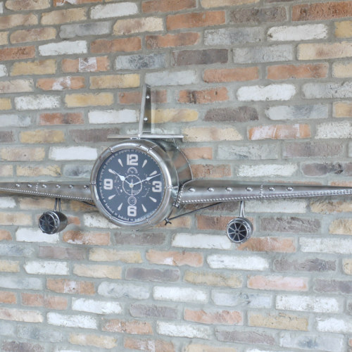 Large Aeroplane Wall Clock