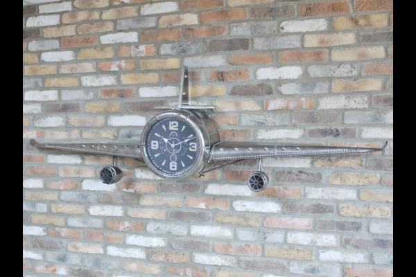 Large Aeroplane Wall Clock
