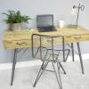 Warrick Industrial Style Wooden Desk