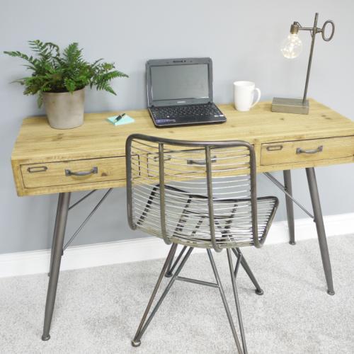 Industrial Style Wooden Desk