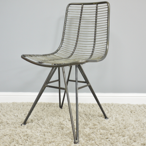 Hilton Industrial Metal Chair