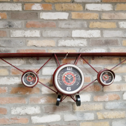Aeroplane Wall Clock & Shelf