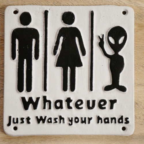 Alien Toilet Sign