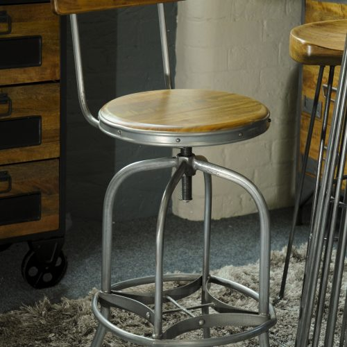 RE-Engineered Bar Stool with Back Rest