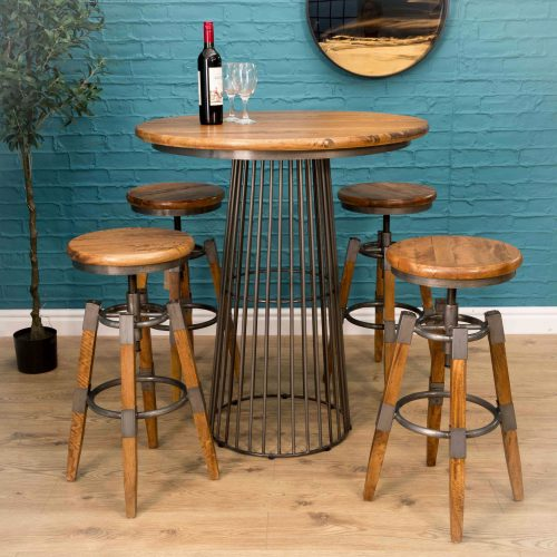 Birdcage Bar Table w mango Top