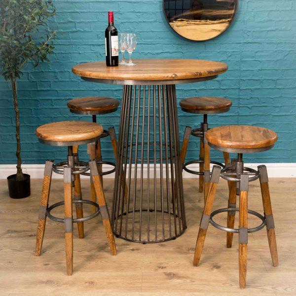 Birdcage Bar Table w mango Top