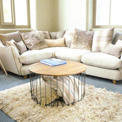 Birdcage Round Coffee Table Hinge Top