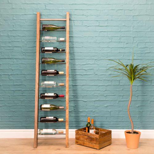 RE-Engineered Leaning 9 bottle Wine Rack