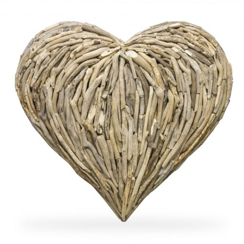 Driftwood Heart Large Wall Deco