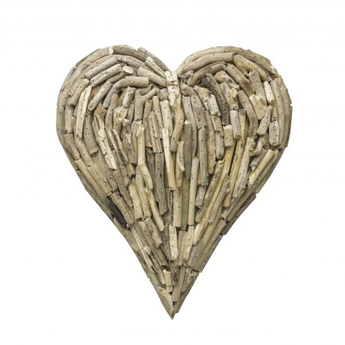 Driftwood Heart Medium Wall Deco