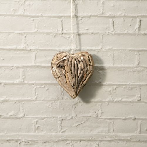 Driftwood Heart Small Wall Deco