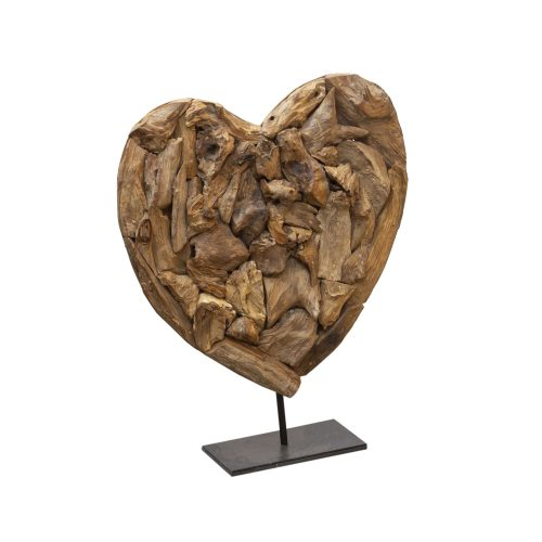 Venice Heart on Stand - Set of 3 (Driftwood)