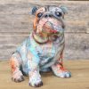 Colourful Abstract Bulldog Ornament