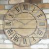 Colburn Industrial Wooden Clock