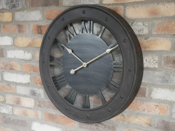 Noire Industrial Style Rustic Clock