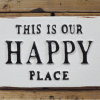Happy Place Cast Iron Wall Plaque
