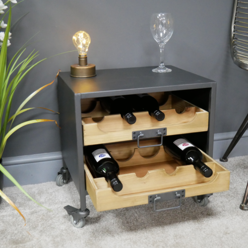 Harlow Small Industrial Wine Display Unit