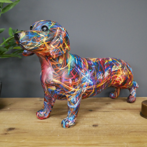Abstract Sausage Dog Ornament