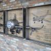 New Mills Aeroplane Wall Clock Decoration