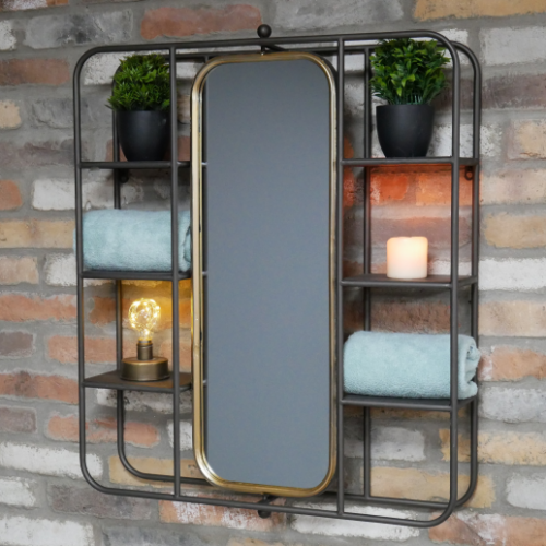 Display Shelving with Mirror