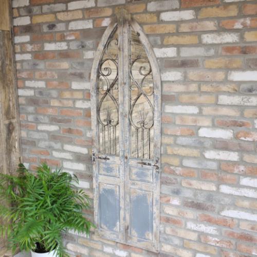 Large Rustic Door Mirror