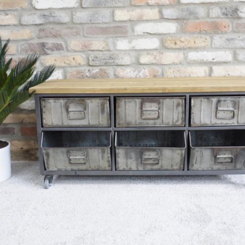 Retro Industrial Cabinet