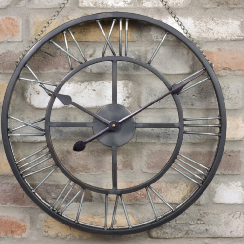 Belfast Industrial Skeleton Wall Clock