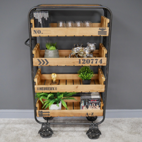 Industrial Shelving Unit with Caster Wheels