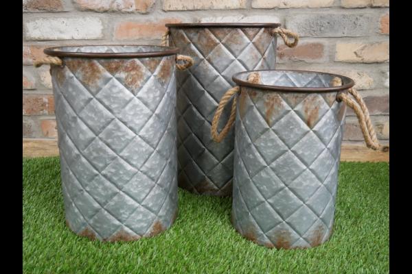 Set Of 3 Buckets