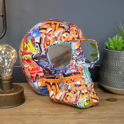 Skull With Mirrored Shades