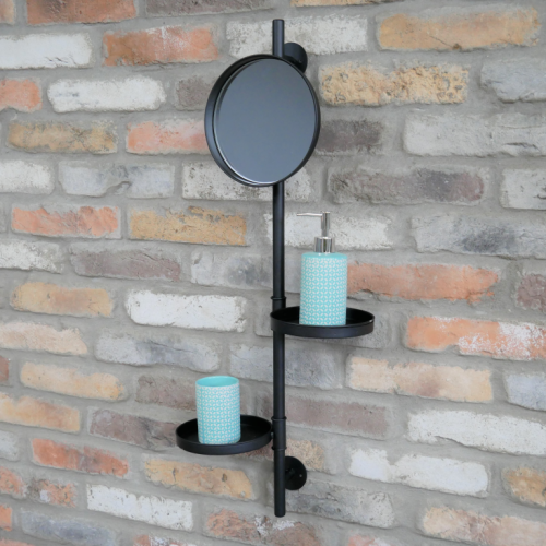 Utility Mirror And Shelves