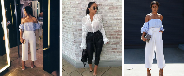 what to wear to brunch - Paper bag and culotte trousers